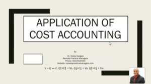 Application of Cost Accounting